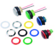 "CNX 722FV Series 0.866"" (22mm) Ruggedized LED FlexVoltTM Panel Mount Indicator"