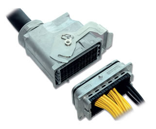 PQ50WT Series, High Voltage, IP67 Waterproof Power Supply Connector