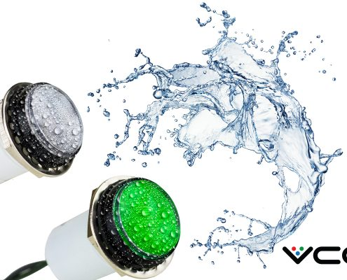 VCC Launches IP67 Harsh Environment LED Panel Mount Indicator with Unique Low-profile Optical Lens